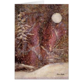 Snowy Winter Night Christmas Card