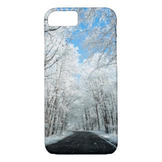 Snowy Winter Road Scene iPhone 7 Case