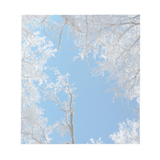 Snowy Winter Scene Notepad