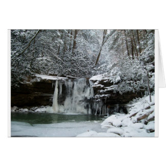 Snowy Winter Waterfall Card
