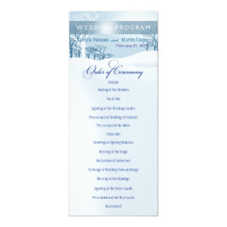 Snowy Winter Wedding Program ice blue