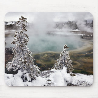 Snowy Yellowstone Mouse Pad