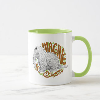 Snuffleupagus B&W Sketch Drawing Mug