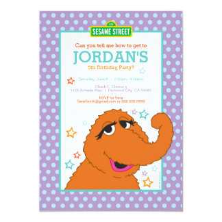 "Snuffy Birthday 5"" X 7"" Invitation Card"