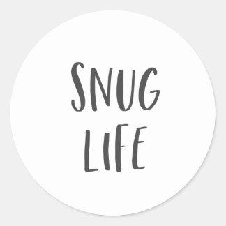 Snug Life Funny Saying Classic Round Sticker