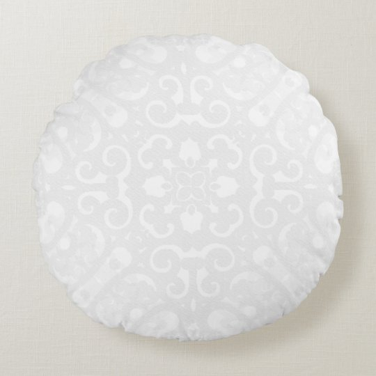 Snuggle_Accents(c) White-_Mod-Lace Round Pillow