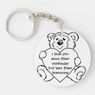 Snuggle Bear Keychain