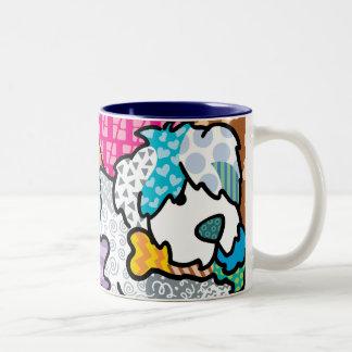 Snuggle Bear Two-Tone Coffee Mug