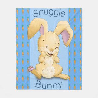 Snuggle Bunny Blue Fleece Blanket