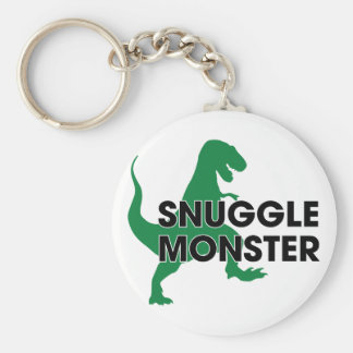 Snuggle Monster Basic Round Button Keychain