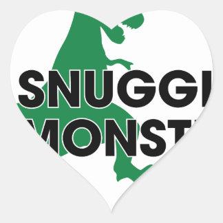 Snuggle Monster Heart Sticker
