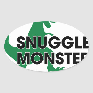 Snuggle Monster Oval Sticker