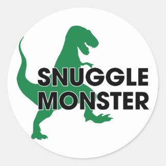 Snuggle Monster Round Sticker