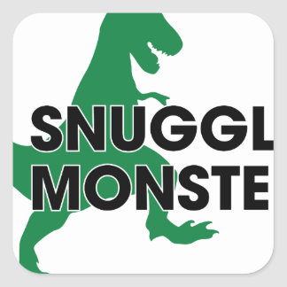 Snuggle Monster Square Sticker