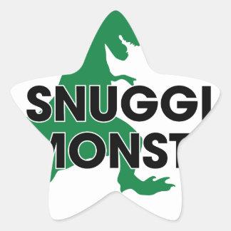 Snuggle Monster Star Sticker