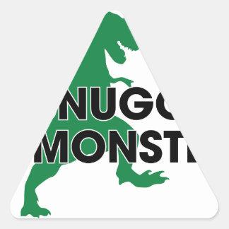 Snuggle Monster Triangle Sticker