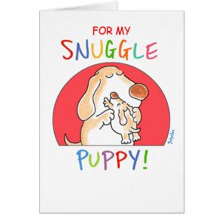 SNUGGLE PUPPY! by Boynton Greeting Card