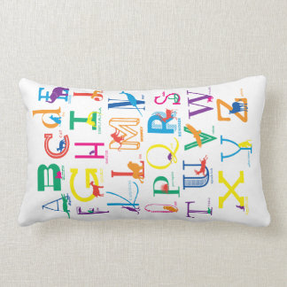 Snuggle the Alphabet with Bright Colours Lumbar Pillow