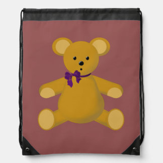 Snuggle the Teddy Bear Cinch Bags