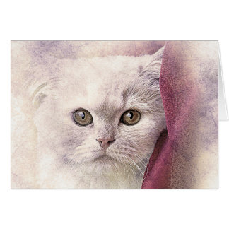 Snuggle Time Kitty | Abstract | Watercolor Card