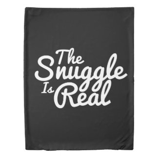 Snuggle Up Couples Black And White Duvet Cover