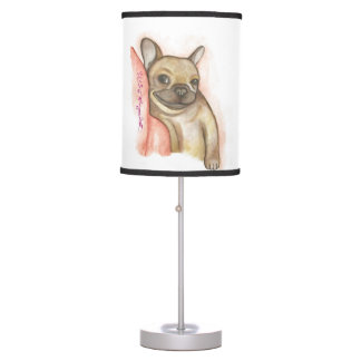 Snuggle up French Bulldog table lamp