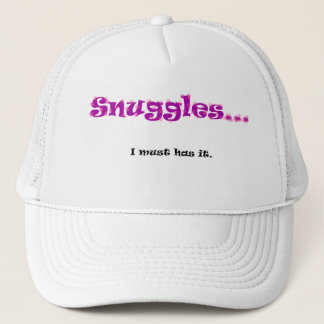 Snuggles... I must has it. Trucker Hat