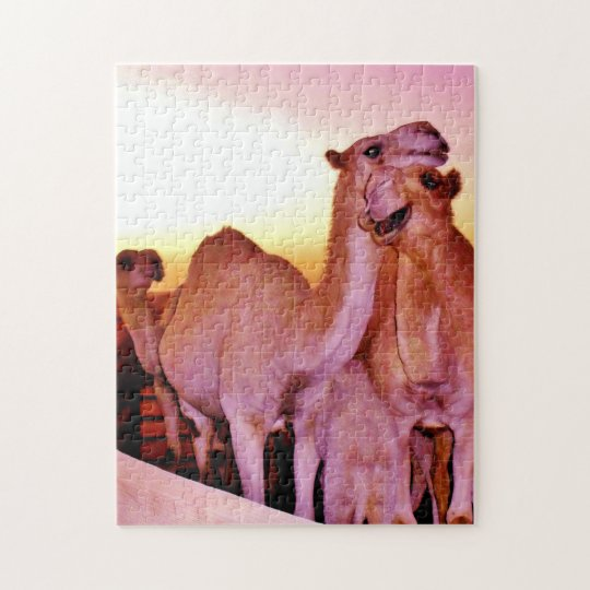 Snuggling Camels Jigsaw Puzzle