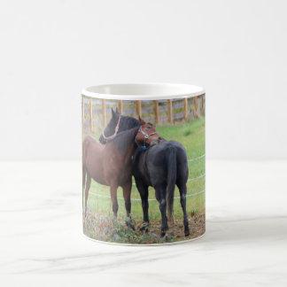 Snuggling Morgan Horses Coffee Mug