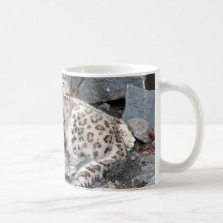 Snuggling Snow Leopards Painting Mug