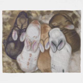 Snuggly Baby Bunnies Fleece Blanket