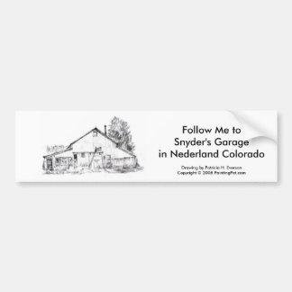 Snyder's Garage, Bumber Sticker Bumper Sticker