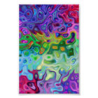 So abstract 4.1 blue purple green and modern poster
