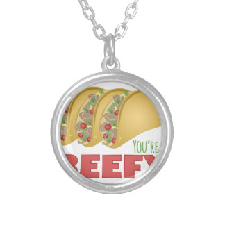 So Beefy Silver Plated Necklace