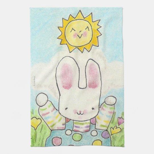 So Big Boy Bunny Tea Towel