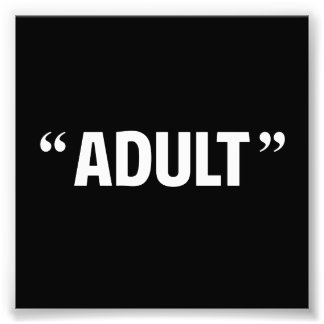 So Called Adult Quotation Marks Photographic Print