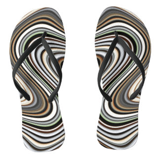 SO COOL Chic Trendy Pattern Flip Flops