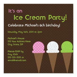 So Cool Ice Cream Party Invitation - Square