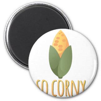 So Corny 2 Inch Round Magnet