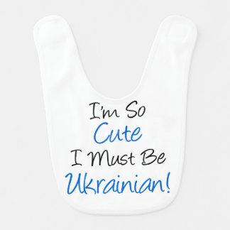 So Cute Must Be Ukrainian Bib