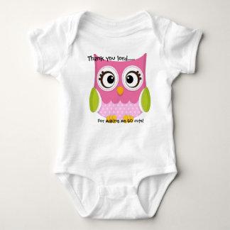 So Cute Owl Baby Bodysuit