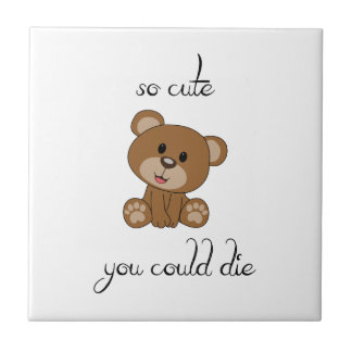 So Cute Teddy Ceramic Tile