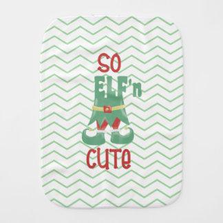 So ELF'n Cute,Chevron, Baby Burp Cloth