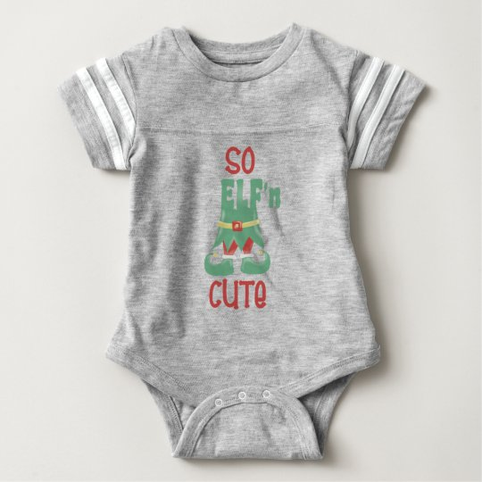 So ELF'n Cute Funny Christmas Baby Bodysuit
