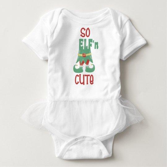 So ELF'n Cute Funny Christmas Baby Bodysuit