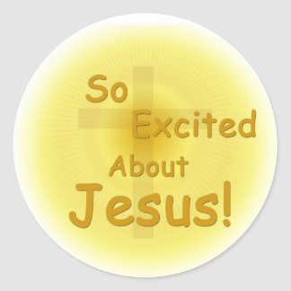 """So Excited About Jesus"" Stickers"