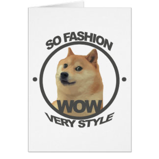So Fashion, So Doge Greeting Card