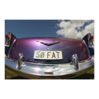 SO FAT - Classic Cars Beach Hop Art Photo