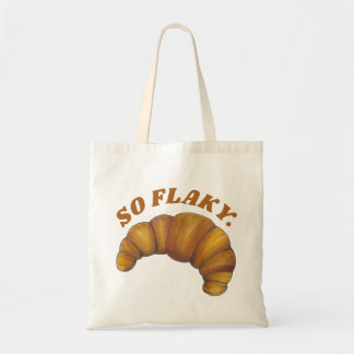 So Flaky Buttery Croissant French Pastry Foodie Tote Bag