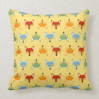"So Foxy Cotton Throw Pillow, 20"" x 20"" Throw Pillow"